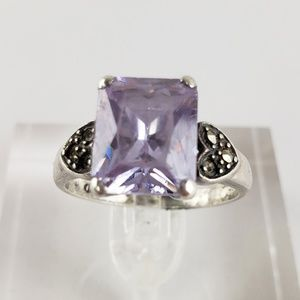 Jewelry - Sterling Silver Ring Purple Stone
